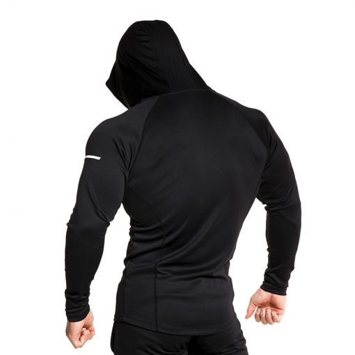 2019 Mens training tight fit Gym Hoodie