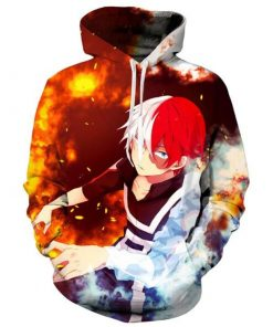 2020 Anime My Hero Todoroki Shoto Cosplay Hoodies