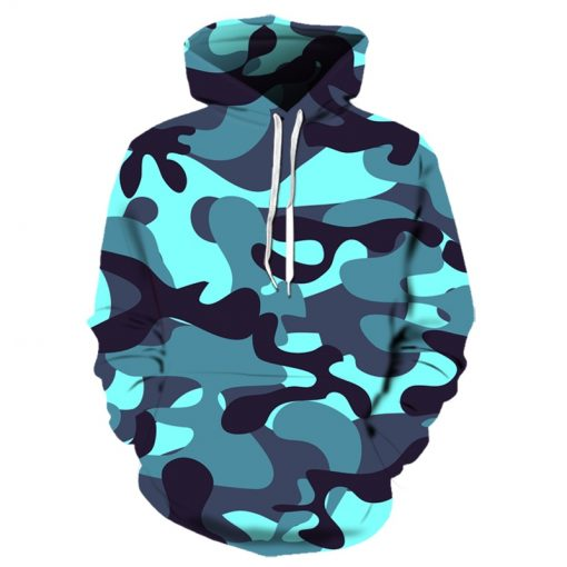 2019 Urban 3D Camouflage Hoodie Collection
