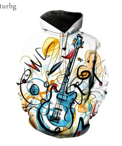 2020 Music Note 3D Hoodie Collection
