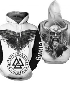 2020 Viking Warrior Tattoo 3D Hoodie