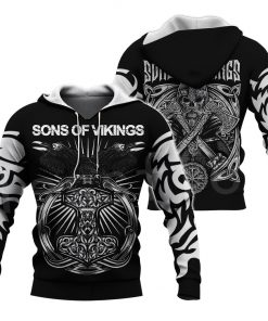 2020 Sons of Vikings 3D Hoodie
