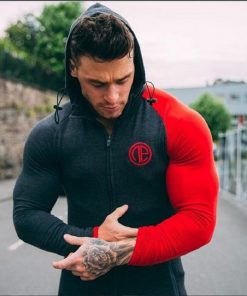 2020 Mens Muscle Fit Training Hoodle